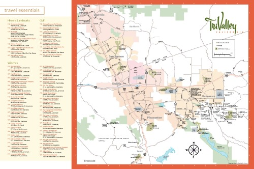 Download a map of the Livemore Valley Wine Country
