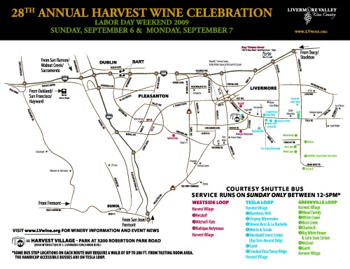A Map for Harvest Wine Celebration