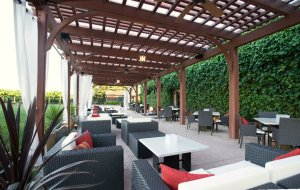 Covered Patio at Underdog Wine Bar, Livermore, CA.
