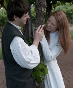 Joseph Salazar and Ashley Wickett as Romeo & Juliet at Concannon Vineyard.