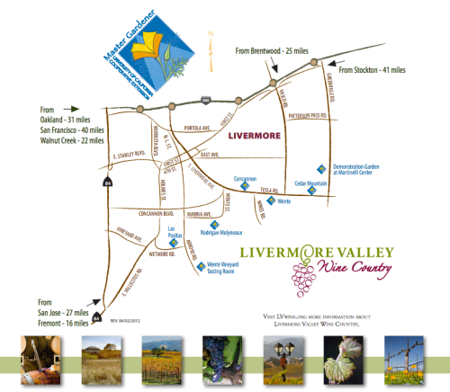 Livermore Valley's winery garden trail.