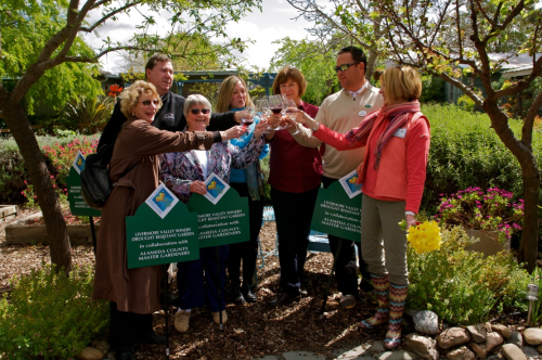 Livermore Valley wineries at the grand opening of a drought resistant garden trail.